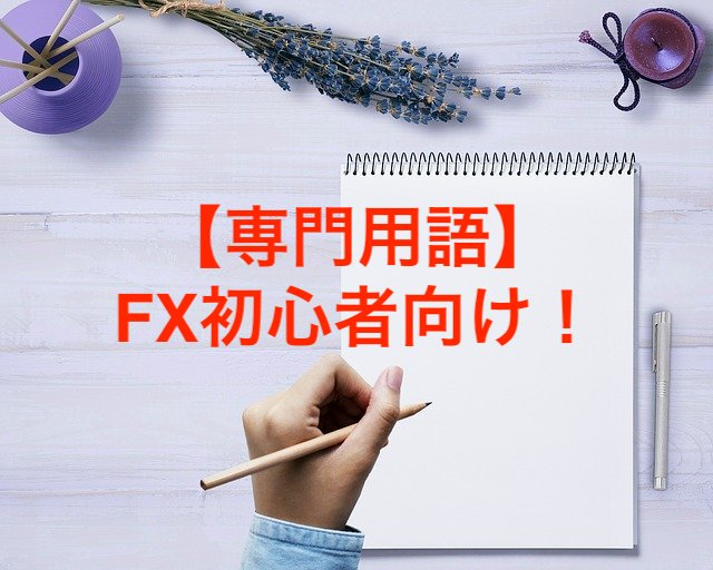 【専門用語】FX初心者向け!最低限覚えたい3つの言葉