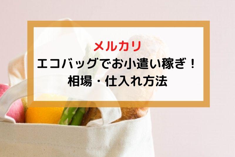 【メルカリ】エコバッグでお小遣い稼ぎ!相場・仕入れ方法